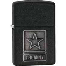 Zippo US Army Pewter Emblem, 1941 Black Crackle Classic