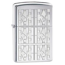 Zippo Playboy Geometic Triangle Design, Chrome (28624)