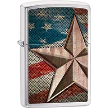 Zippo Retro Star, Brushed Chrome Classic