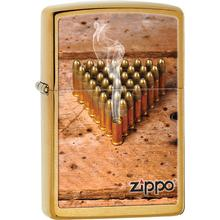 Zippo Bullets, Brushed Brass Classic