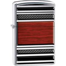 Zippo Steel And Wood, High Polish Chrome Pipe Classic