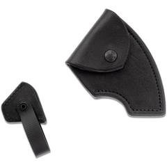 RMJ Tactical Black Leather Edge Cover for the Berserker Tomahawk, Sheath Only