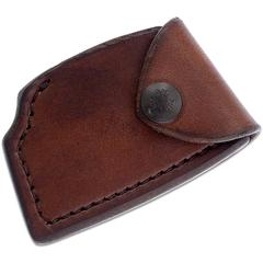 RMJ Tactical Brown Leather Edge Cover for the Jenny Wren Tomahawk, Sheath Only
