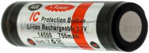 FOURSEVENS AW Brand 14500/AA Lithium-Ion Battery 3.7V 750mAh