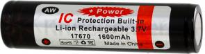 FOURSEVENS AW Brand 17670/CR123A² Lithium-Ion Battery 3.7V 1600mAh