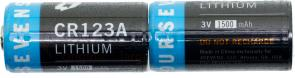 FOURSEVENS CR123A Lithium Batteries 3V 1500mAh, 2 Pack