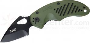 5.11 Tactical DRT Spear Point Folding Knife 2-1/2 inch Plain Blade, FRN Handles (51057)