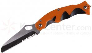 5.11 Tactical Double Duty Responder Folding 3.75 inch Combo Sheepsfoot Blade, Orange FRN Handles (51073)