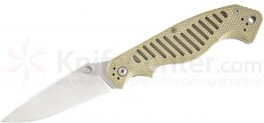 5.11 Tactical CounterStrike 2 Spear Point Folding 3-3/4 inch Plain AUS-8 Blade, G10 Handles (51080)