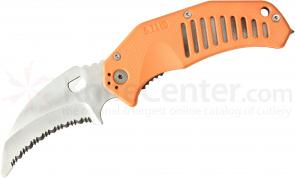 5.11 Tactical LMC Curved Rescue Folding Knife 3.25 inch Serrated Blunt Tip Blade, Orange FRN Handles (51086)