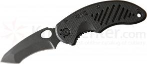 5.11 Tactical BTC Recurve Tanto Folding Knife 3.25 inch Black Plain Blade, Black FRN Handles (51089)