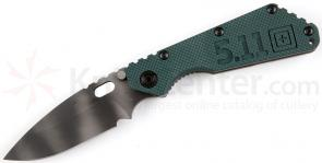 5.11 Tactical Strider SMF Folding Knife 4 inch Blade, WWII MC Green G10 and Titanium Handles (51107-242)