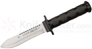 AITOR Jungle King II Fixed 5-1/2 inch Satin Plain Blade, Molded Polyamide Sheath Plus Survival Kit