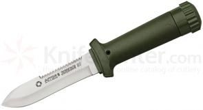 AITOR Jungle King III Fixed 4-1/8 inch Satin Plain Blade, Molded Polyamide Sheath Plus Survival Kit