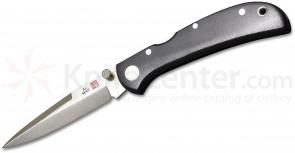 Al Mar 1002UBK2T Hawk Ultralight Folding Knife 2.75 inch Talon Blade, Black Linen Micarta Handles