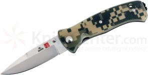 Al Mar MS2KDC Mini SERE 2000 Folding Knife 3 inch VG10 Satin Plain Blade, Digi Camo G10 Handles