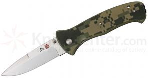 Al Mar S2KDC SERE 2000 Folding Knife 3.6 inch VG10 Satin Plain Blade, Digital Camo G10 Handles