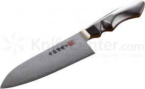 Al Mar SC7 Stainless Ultra-Chef Santoku Knife 7 inch VG10 Damascus Blade