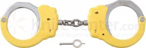 ASP Chain Handcuffs, Steel, Yellow