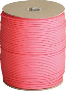 Atwood Rope 550 Paracord, Hot Pink, 1000 Foot Spool