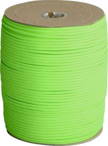 Atwood Rope 550 Paracord, Neon Green, 1000 Foot Spool