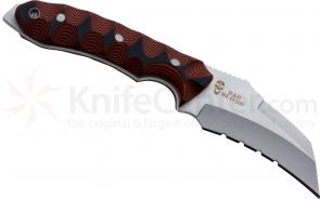 Bad Blood Knives Razorhoof Fixed 3-5/8 inch 8Cr14 Stainless Blade, Red/Black G10 Handle, Kydex Sheath