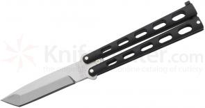 Bear & Son 114AB Black 5 inch Armor Piercing Butterfly Knife Tanto Blade
