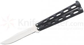 Bear & Son 114B Butterfly Knife 5 inch Blade Black Handle