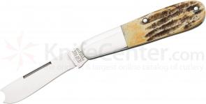 Bear & Son 5181RAZR One-Arm Bandit Barlow 2-5/8 inch Blade, Genuine India Stag Bone Handles