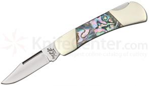 Bear & Son AB26 Executive Lockback Folder 2-1/4 inch Blade, Genuine Abalone Handles