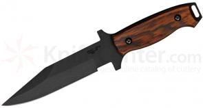 Bear OPS C-100-CB2-T Combat Knife 6 inch Black Modified Clip Point Blade, Cocobolo Handles