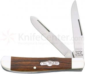 Bear & Son K207E Kodiak Series Mini Trapper 3-1/2 inch Closed, Desert Ironwood Handles