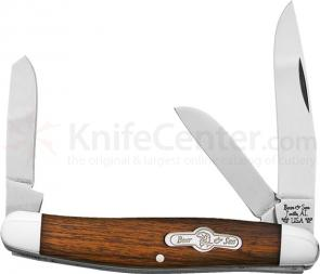 Bear & Son K218E Kodiak Series Stockman 3-1/4 inch Closed, Desert Ironwood Handles