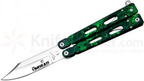 Bear OPS Bear Song IV Undead Butterfly Knife 2-7/8 inch Satin Blade, Reaper Z Aluminum Handles (UD-B-450)