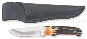 Bear & Son Drop Point Pro Skinner w/ India Stag Bone Handle