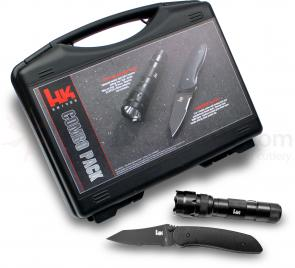 Heckler & Koch Scorch Double Action AUTO Knife and LED Flashlight Combo