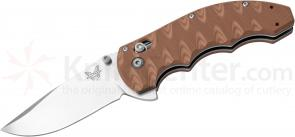 Benchmade 300SN AXIS Flipper Folding Knife 3.05 inch Satin Plain Blade, Textured Sand/Earth G10 Handles