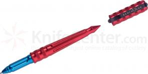 Benchmade Tactical Pen Series Red Anodized Body, Blue Grip, Blue Ink