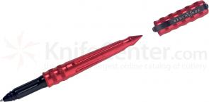 Benchmade Tactical Pen Series Red Anodized Body, Black Grip, Black Ink