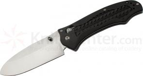 Benchmade 111H2O Folding Dive Knife 3.45 inch Plain N680 Blade, Black Grivory Handles
