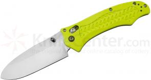 Benchmade 111H2O Folding Dive Knife 3.45 inch Plain N680 Blade, Yellow Grivory Handles