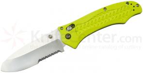 Benchmade 111H2O Folding Dive Knife 3.45 inch Combo N680 Blade, Yellow Grivory Handles