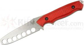 Benchmade 140T Nimravus 4.5 inch Fixed Trainer Blade, Red Aluminum Handles