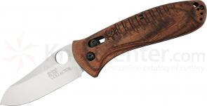 Benchmade Waddell's Bone Collector 3.36 inch D2 Plain Blade, Walnut Wood Handles