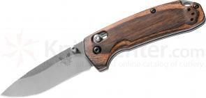Benchmade Hunt 15031-2 North Fork Folding Knife 2.97 inch S30V Blade, Stabilized Wood Handles