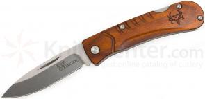 Benchmade 15055-2 Bone Collector Lockback Folder 2.89 inch D2 Plain Blade, Cocobolo Handles