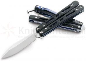 Benchmade 32 Bali-Song Mini-Morpho Butterfly 3.25 inch Satin D2 Steel Blade, G10 Handles
