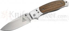 Benchmade Lone Wolf 40020 Ridge Top Folding 3.21 inch 9Cr13MoV Plain Blade, Wood Handles