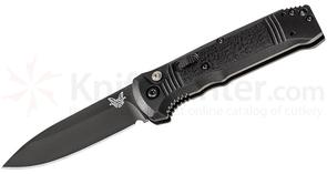 Benchmade 4400BK Casbah AUTO 3.4 inch Black S30V Drop Point Blade, Black Textured Grivory Handles
