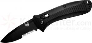 Benchmade 520SBK Presidio AXIS Lock Folder 3.42 inch Black Combo Edge Blade